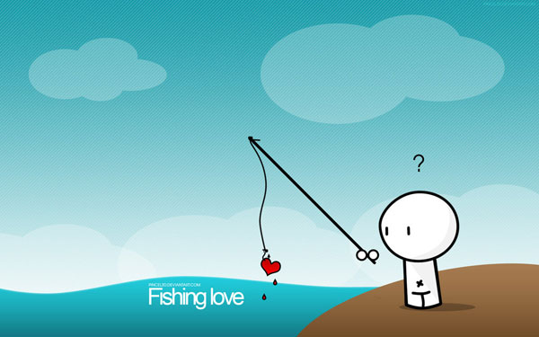 wallpaper art 21 fishing love