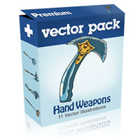 Premium Vector Pack – Hand Weapons