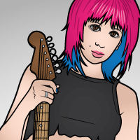 "How to Create a Rock Girl with ""Beautiful Strokes"" in Adobe Illustrator CS5 – Vector Premium Tutorial"