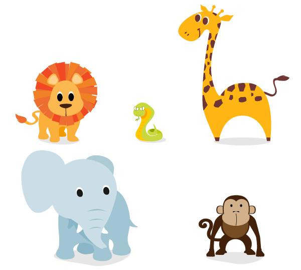 13组免费可爱的动物向量图下载