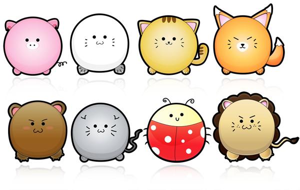 Image of: Gif 6cutevectoranimals Terris Blog Terris Blog 13 Free Packs Of Animal Vector Graphics Cute Cartoon