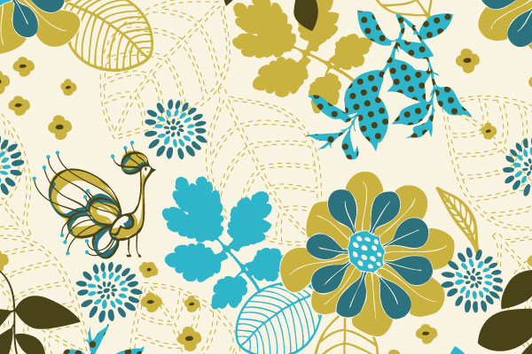 Free Vector Downloads of Illustrator Patterns for Vintage Design 14