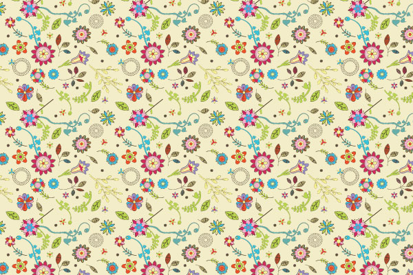 Free Vector Downloads, Vintage Design Illustrator Patterns