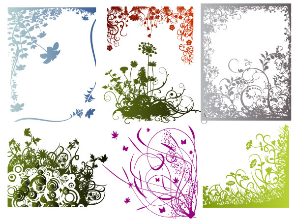 Grab these free floral frames borders and corners in vector AI format