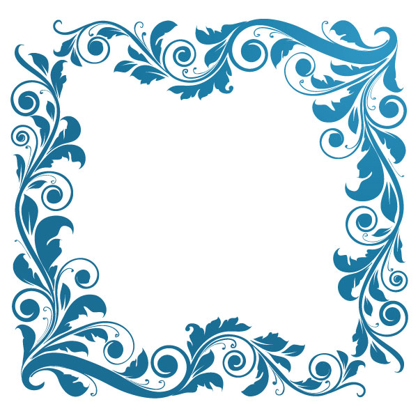 Free, Vintage Vector Graphics: Floral Borders, Corners, and Frames