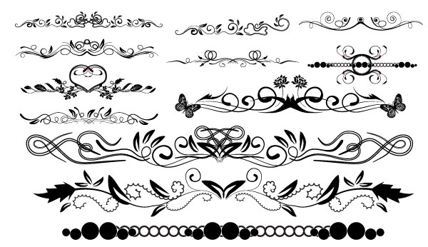 Grab these decorative vector borders for free available in EPS format