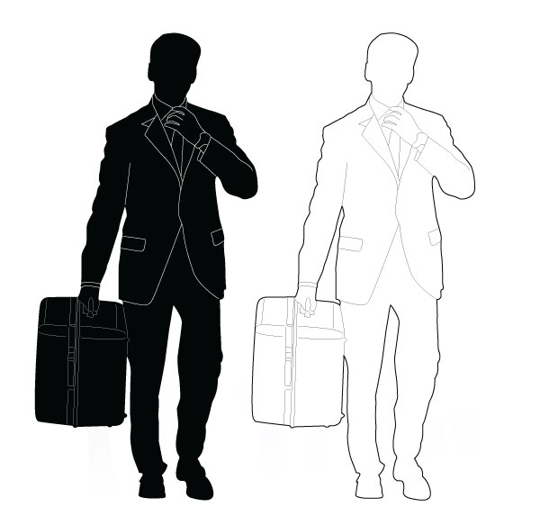 vector person grabbing tie