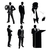 Best of, Free Vector Business People Silhouette Packs