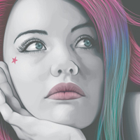 Creating a Portrait Using Only Four Colors!