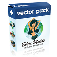 Premium Vector Pack – Bikini Models