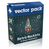 Premium Vector Pack – Retro Rockets