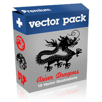 Premium Vector Pack – Asian Dragons