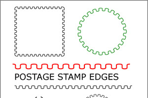 postage stamp edge brush it also includes corners