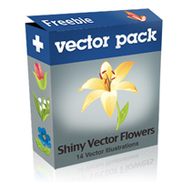 Exclusive Freebie Pack – Shiny Vector Flowers