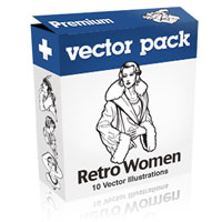 Premium Vector Pack – Retro Women