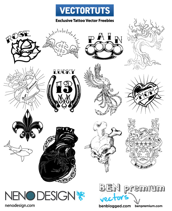 New Exclusive Tattoo Vector EPS Illustrations – Free Download