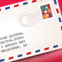 Quick Tip: How to make a Classic Air Mail Envelope with Adobe Illustrator