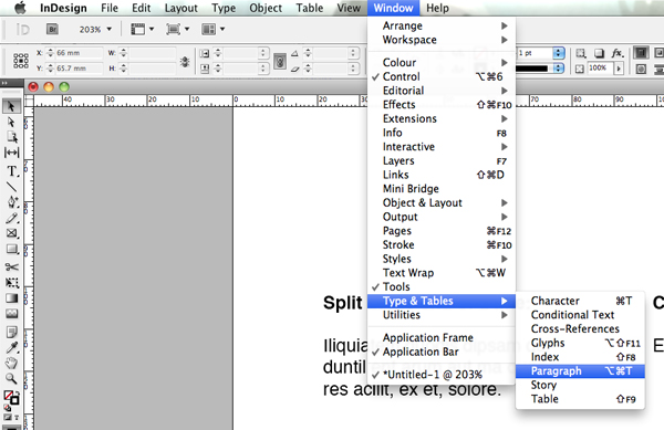 how to make text not hyphenate in indesign