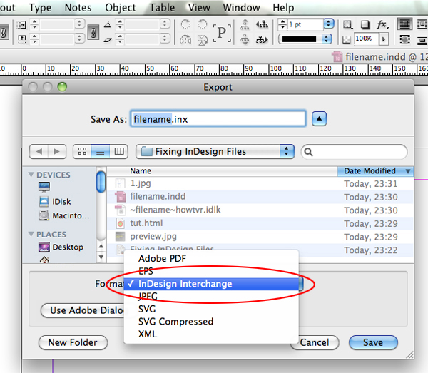 how to save a indesign file to pdf