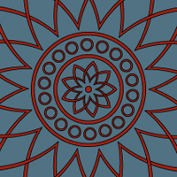 Quick Tip: How to Create a Two Color Mandala with a Pattern Brush