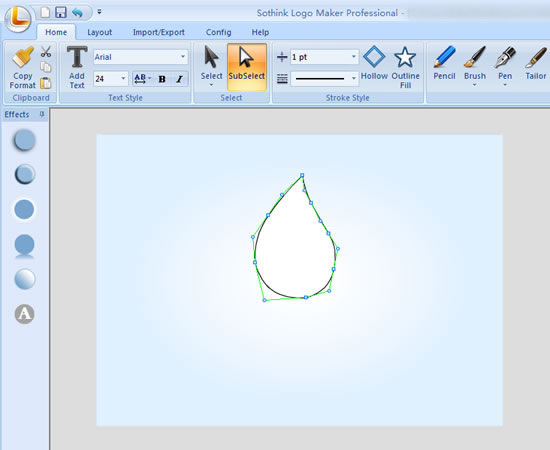 drawing water drop