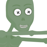 Create a Cheeky Zombie with Basic Shapes and the Shape Builder Tool