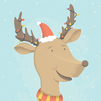Make a Fun Holiday Reindeer Illustration