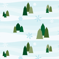 Creating a Simple, Snowy Seamless Pattern