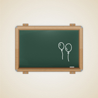 Create a Detailed Vector Chalkboard Icon
