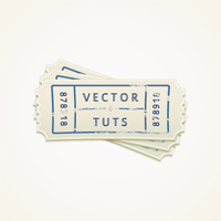 Create a Vector Ticket Icon in Illustrator