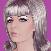 Changing Hair and Makeup to Create a Retro Style in Vector Portraits