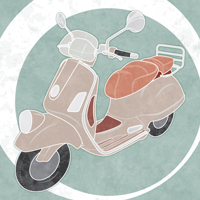 How to Create a Line Art Vintage Vector Scooter in Illustrator