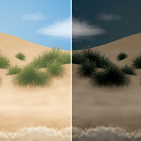 Go from Day to Night with a Beach Scene in Adobe Illustrator