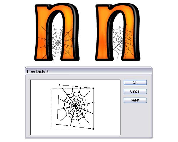 排列蜘蛛的网,完成万圣节的样子