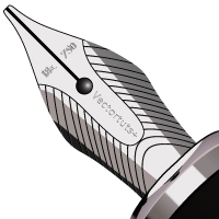 How to Create a Realistic, Shiny Fountain Pen Nib in Vector