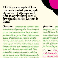 Creating a Question and Answer Format with InDesign Nested Styles