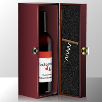 How to Illustrate an Elegant Bottle of Wine in a Gift Box