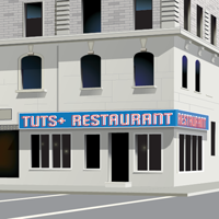 Create a Classic American Diner with Perspective Drawing Tools