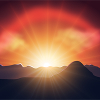 How to Illustrate a Luminous Vector Sunset