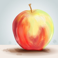 Create a Painterly Apple with Illustrator CS5's new Bristle Brush