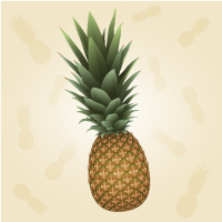 Draw a Realistic Pineapple Using 3D Illustrator Effects