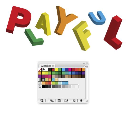 Picture 4 Hiệu Ứng Chữ 3D: PLAYFUL trong Photoshop