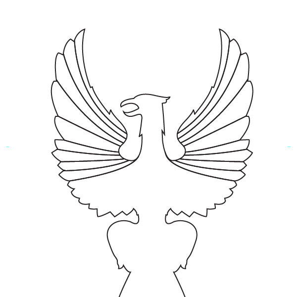 outline eagle