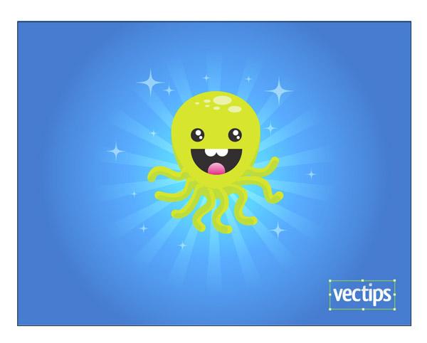 Рисуем веселого осьминога *