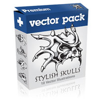 Premium Vector Pack – Stylish Skulls