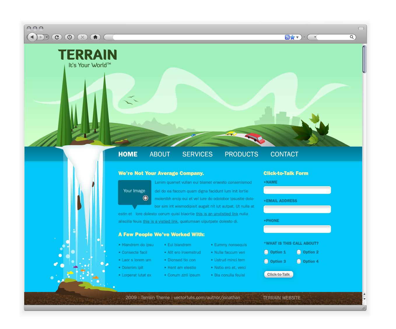 Create a Green Landscape Website in Adobe Illustrator ...