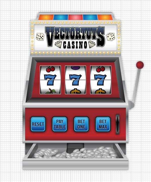 psd designer create a casino slot machine in illustrator. Black Bedroom Furniture Sets. Home Design Ideas