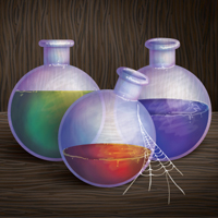 Create a Fantasy Style Potion Illustration with Gradients and the Bristle Brush
