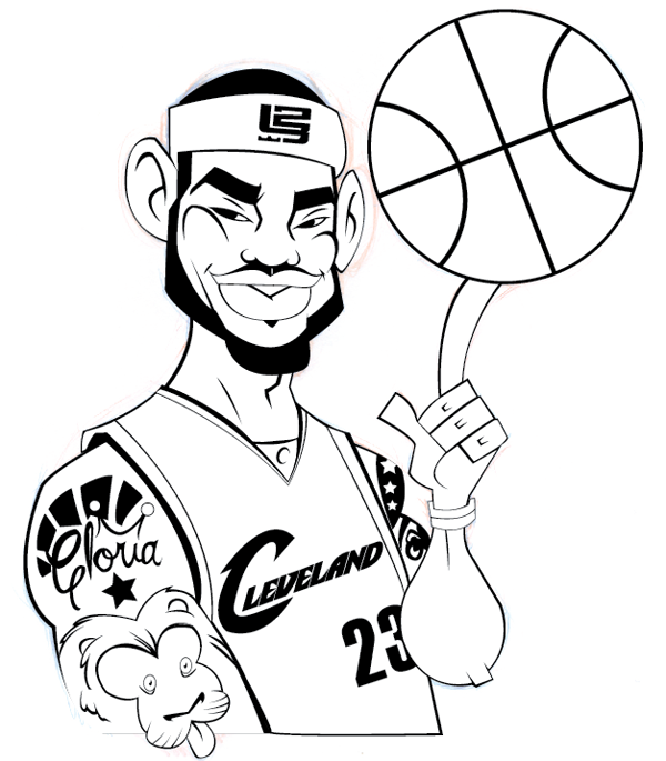 Clevlend caviliers free coloring pages for Cavs coloring pages